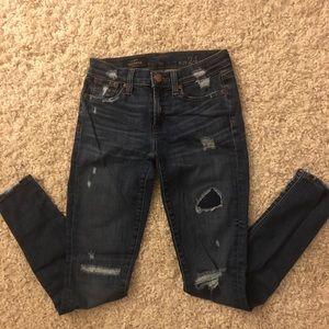 J. Crew toothpick distressed jeans 24